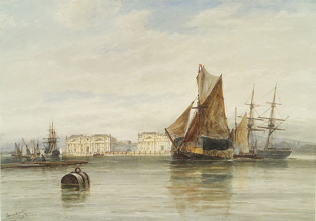 Greenwich Hospital, 1876 by Thomas Bush Hardy