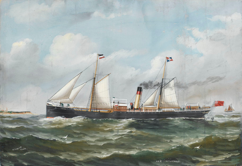 Detail of SS 'Gotha' of Goole by Reuben Chappell