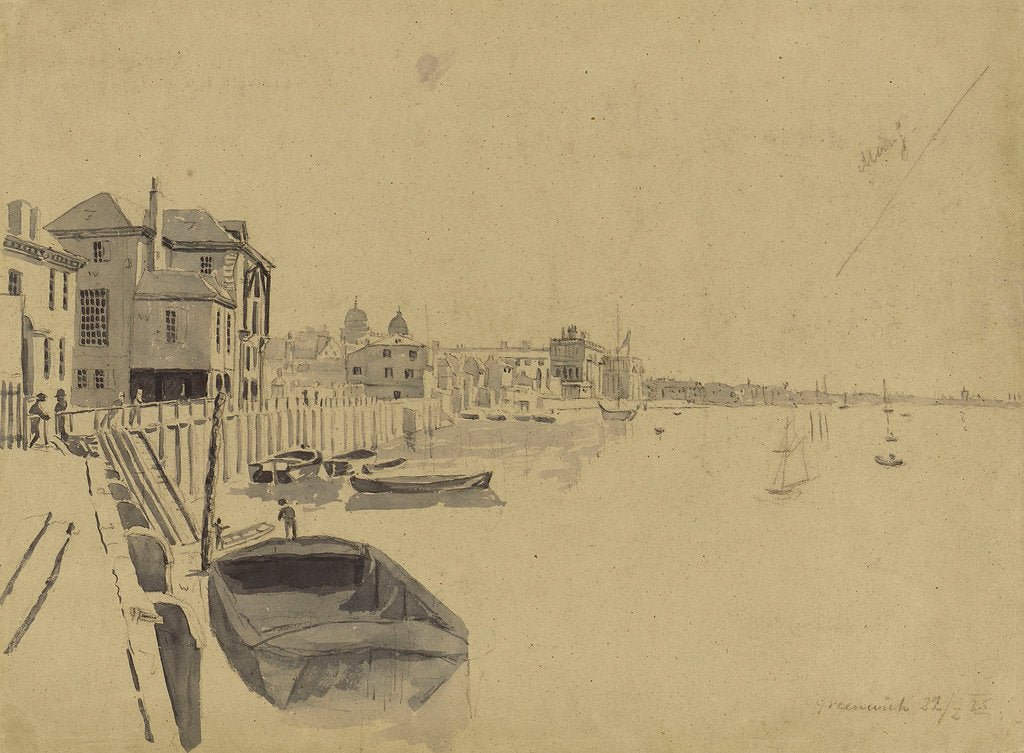 Detail of Crowley's Wharf, Greenwich, in February 1825 by Edward Duncan