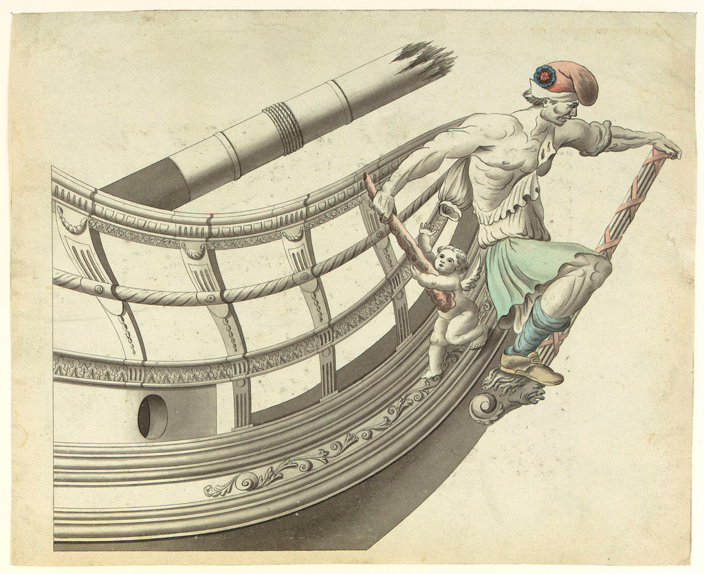Figurehead of the 'Le San Culote' by French School