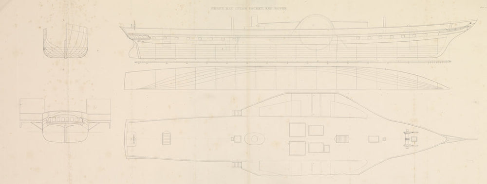Herne Bay Steam Packet, Red Rover (plan & section)