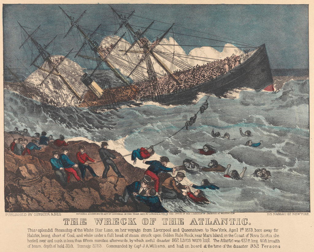 Detail of The Wreck of the 'Atlantic' by Currier & Ives (publishers)