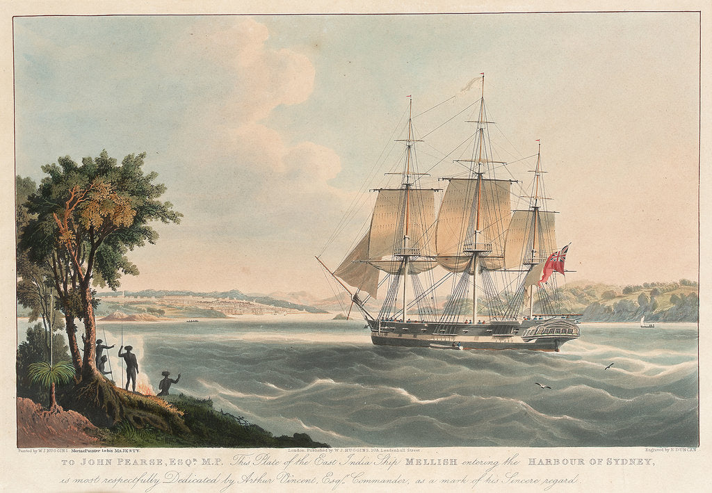 Detail of The East Indiaman 'Mellish' by William John Huggins