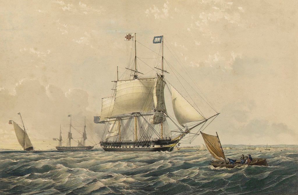 The East Indiaman 'Trafalgar' East Indiaman by Thomas Goldsworth Dutton