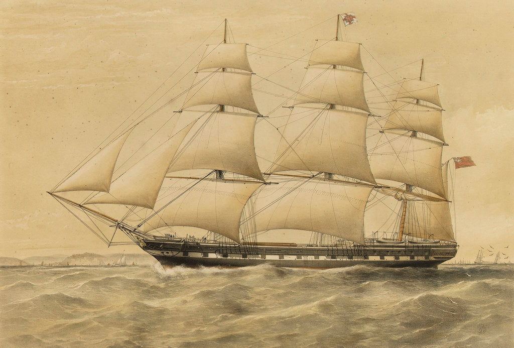 Detail of Clipper ship 'Renown' by Thomas Goldsworth Dutton