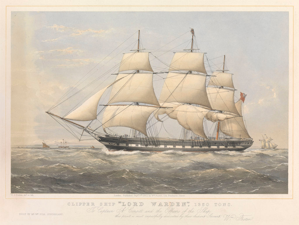 Detail of Clipper ship 'Lord Warden' by Thomas Goldsworth Dutton