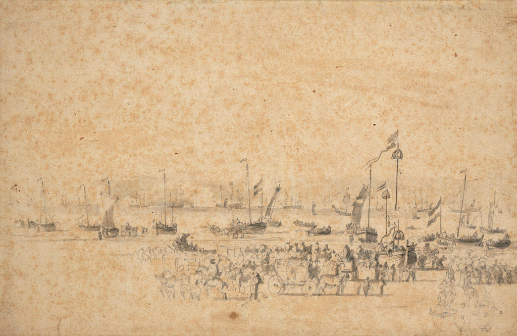 The departure of Charles II from Scheveningen, 23 May 1660 by Willem Van de Velde the Younger