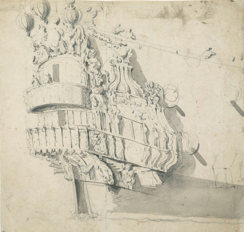 The stern of the 'Hampton Court' by Willem van de Velde the Elder