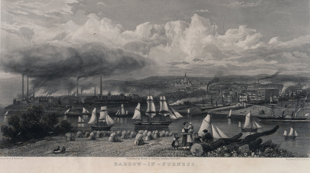 Detail of Barrow-in-Furness by G.H. Andrews