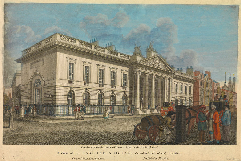 Detail of A view of the East-India House, Leadenhall Street by Bowles & Carver
