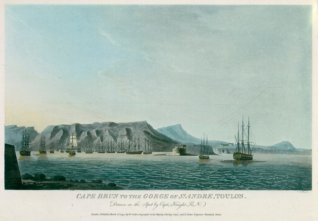Detail of Cape Brun to the gorge of St Andre, Toulon by Knight