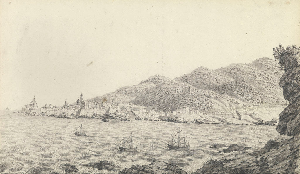 Detail of View of Bastia, Corsica by unknown