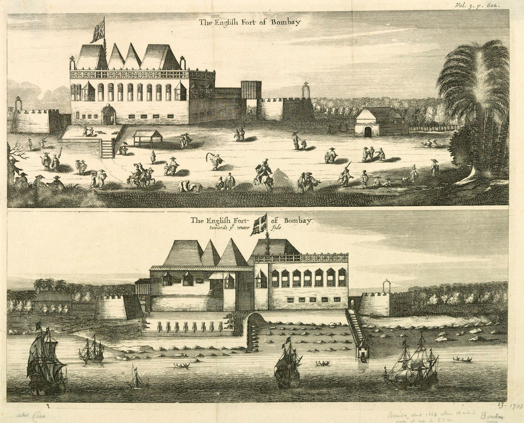 Detail of The English fort of Bombay by unknown