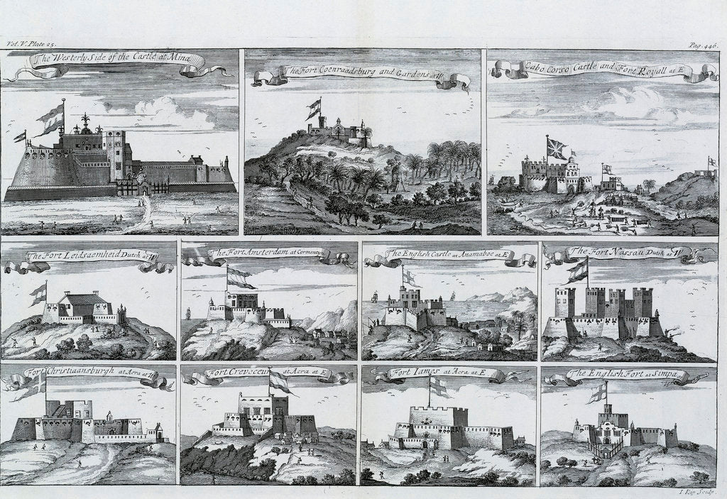 Detail of Views of forts and castles along the Gold Coast, West Africa by unknown