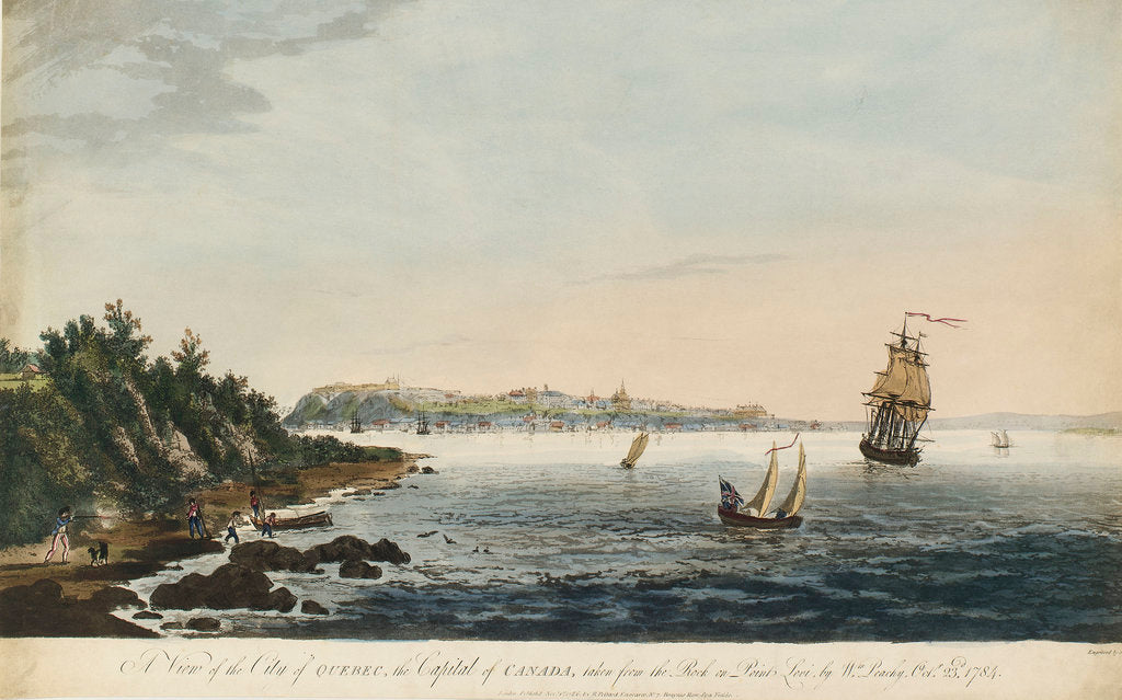 Detail of A view of Quebec by William Peachy