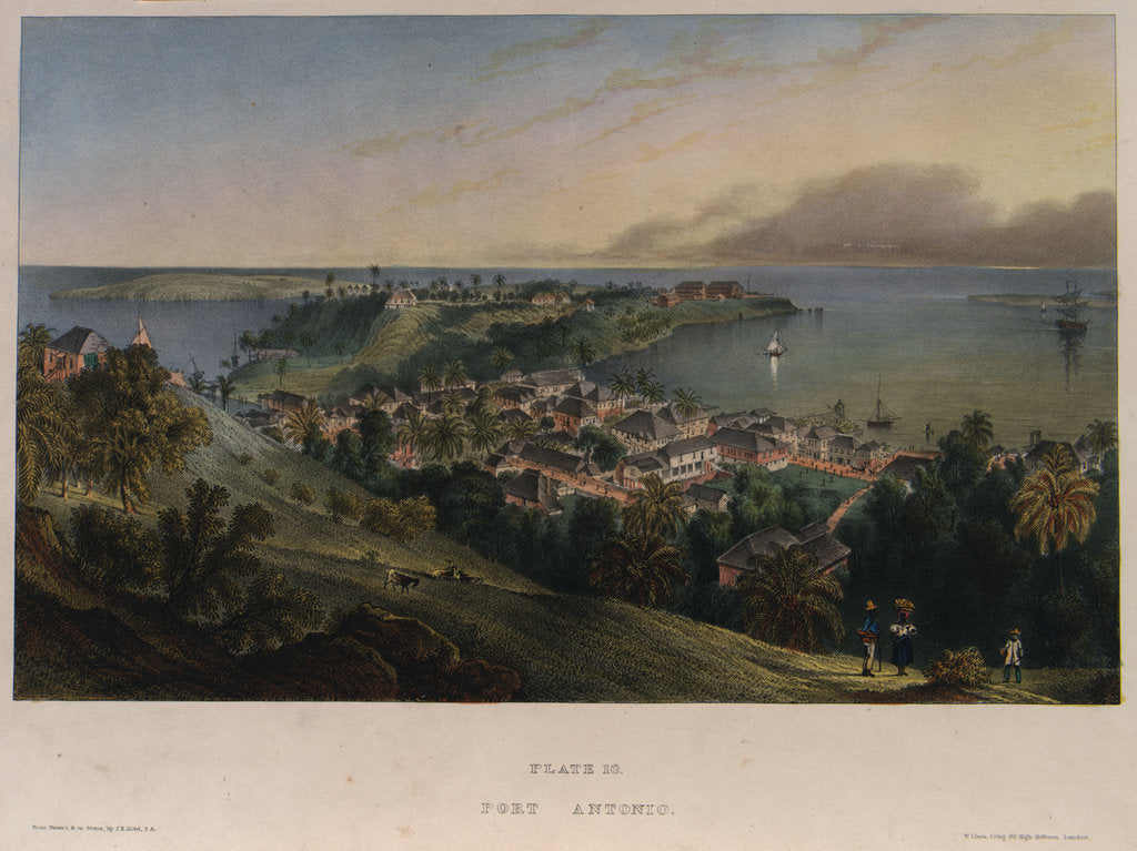 Detail of Port Antonio, Jamaica by J.B. Kidd
