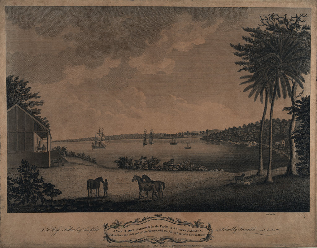 Detail of A view of Dry Harbour in the parish of St Ann's Jamaica by unknown