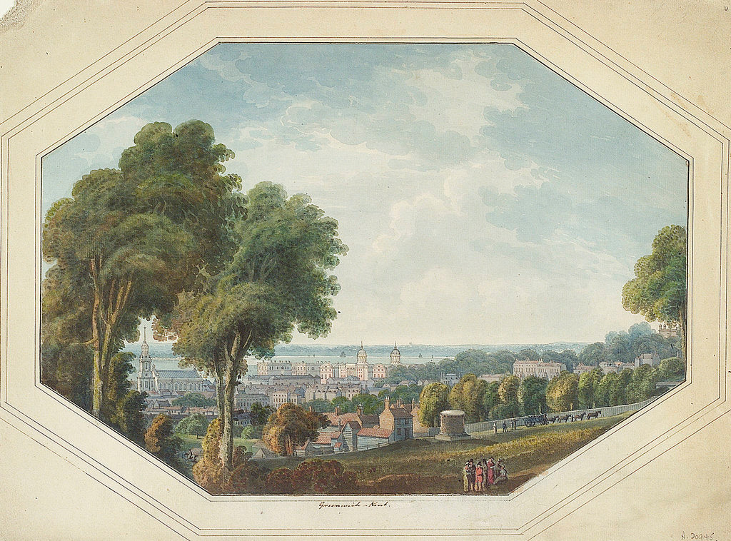 Detail of Greenwich from the Point, circa 1820 by George Heriot