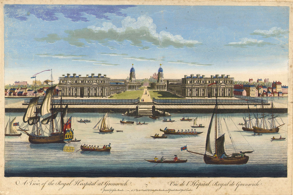 Detail of A view of the Royal Hospital at Greenwich by John Bowles