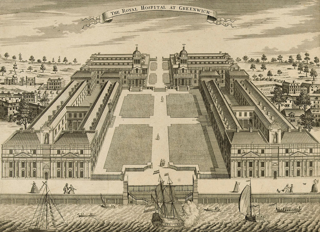 Detail of The Royal Hospital at Greenwich by Sutton Nicholls