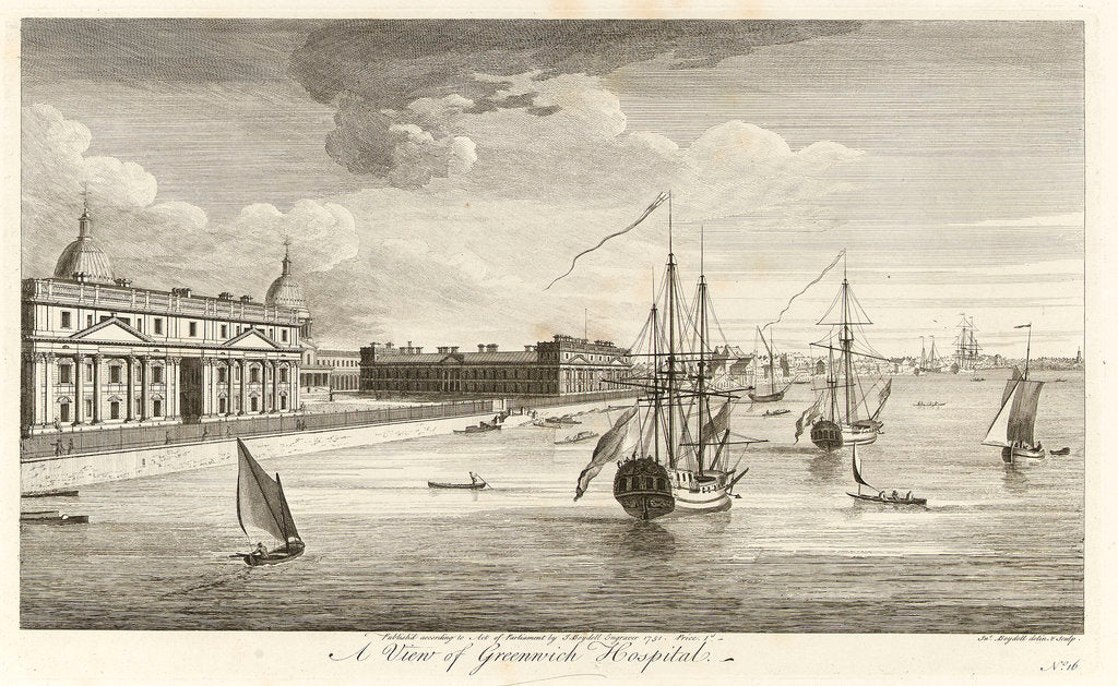 Detail of A view of Greenwich Hospital by John Boydell