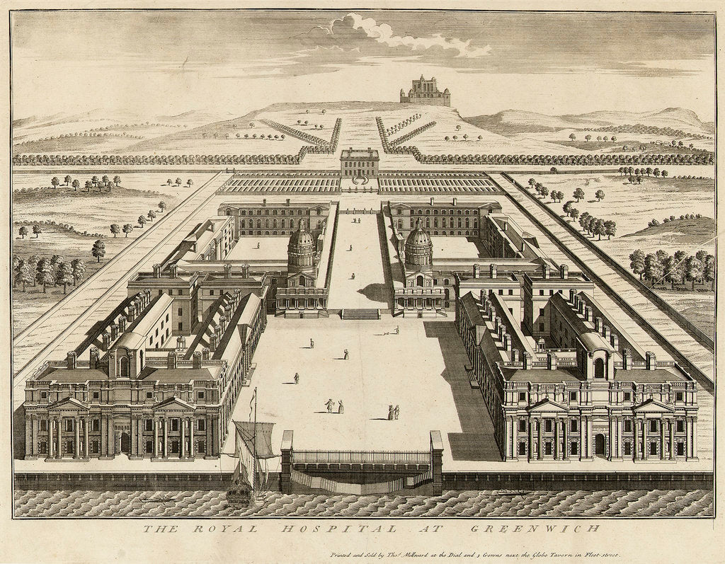 Detail of The Royal Hospital at Greenwich by Thomas Millward
