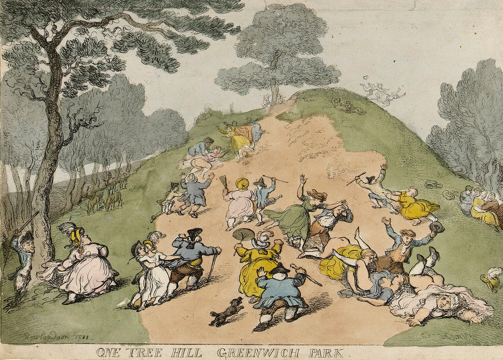 Detail of One-Tree-Hill, Greenwich Park by Thomas Rowlandson