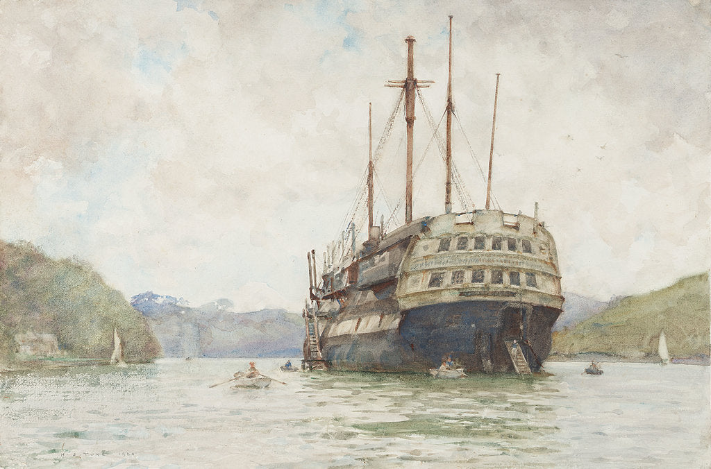 Detail of The 'Implacable' at Falmouth by Henry Scott Tuke