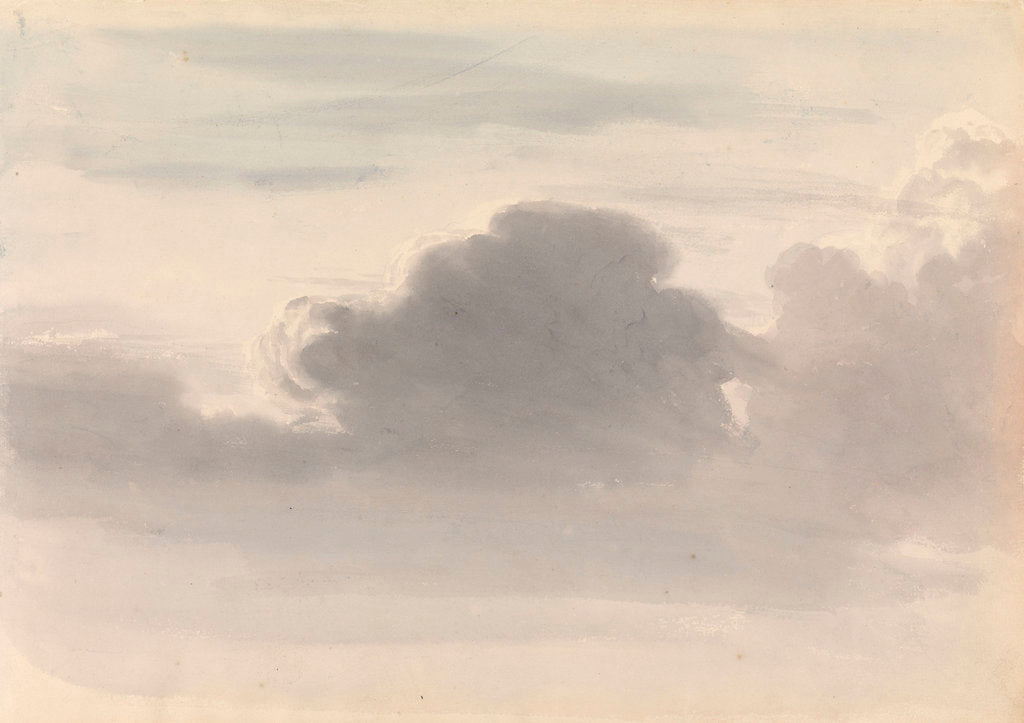 Detail of Study of dark clouds by John Christian Schetky