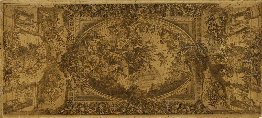 Detail of Sketch for the ceiling of the Painted Hall by James Thornhill