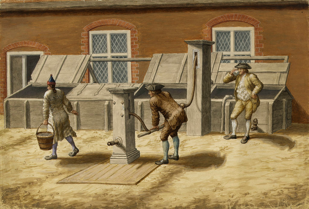 Detail of Woolwich Arsenal circa 1750. The Pumps by unknown