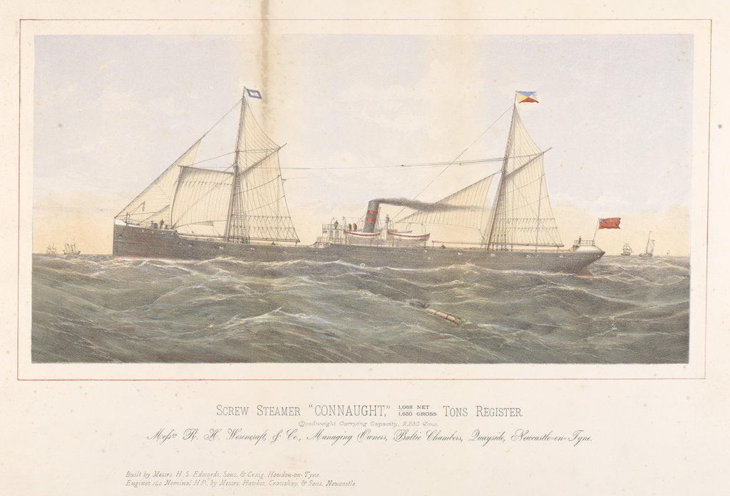 Detail of Screw steamer 'Connaught' by unknown