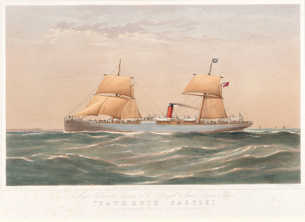 Detail of Royal Mail steam ship 'Taymouth Castle' by Thomas Goldsworth Dutton