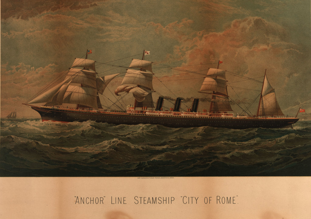 Detail of Screw steamer 'Dora Tully' by W.T. Baldwin