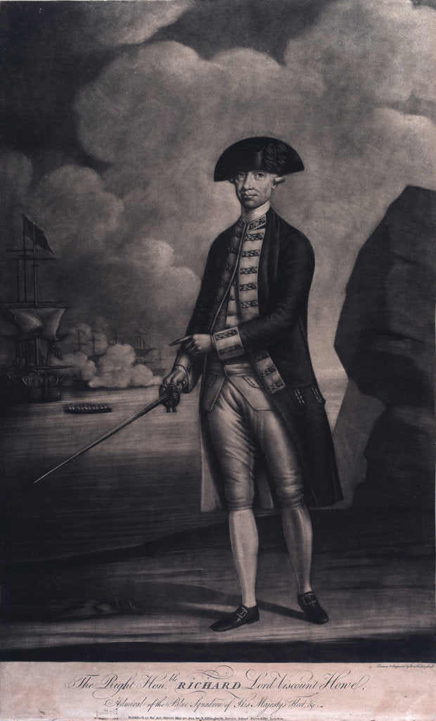 Detail of Admiral Richard Howe (1726-1799) by Ben Killingbeck