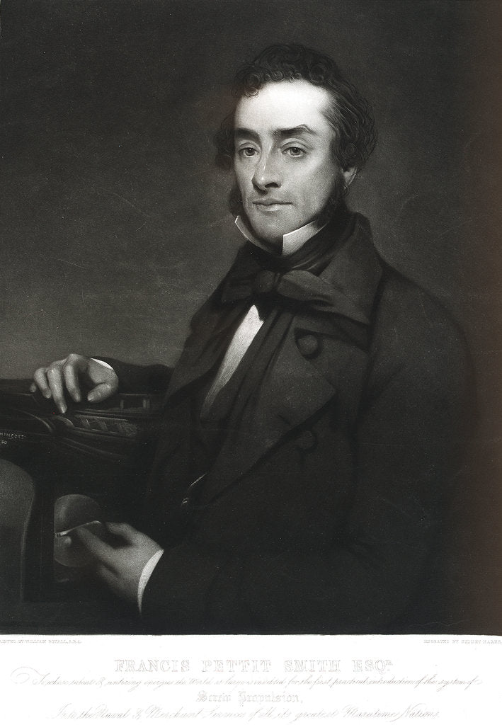 Detail of Francis Pettit Smith (1808-1874) by William Boxall