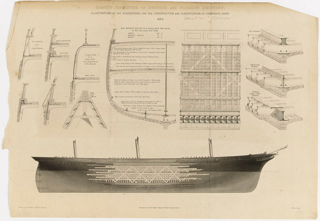 Detail of Lloyd's register of British and foreign shipping by H. Cornish