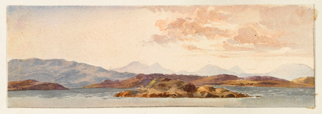 Detail of The Island of Mull from Crinan bay by Margaret Louisa Herschel