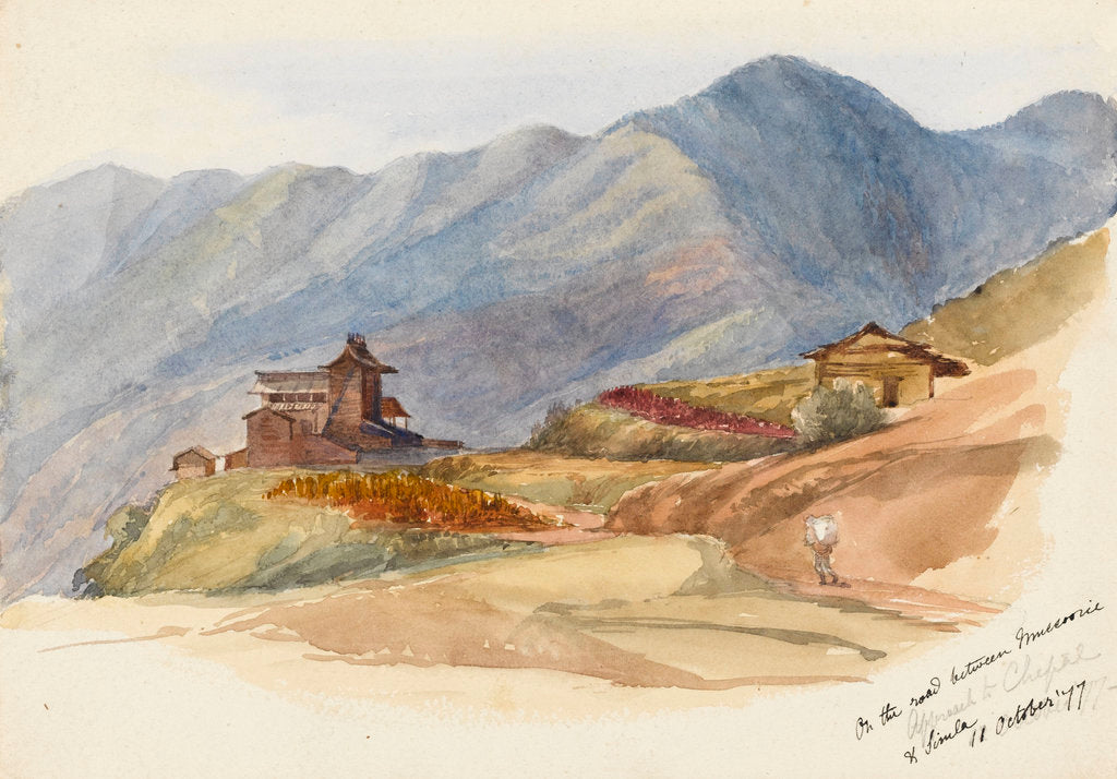 Detail of On the road between Muccorice and Simla, 11 October 1877' by Matilda Rose Herschel