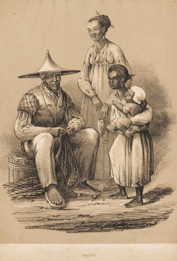 Detail of Malays by Charles Davidson Bell