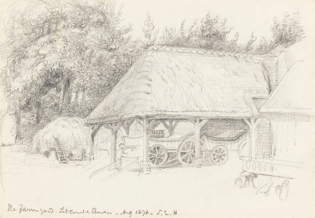 Detail of The Farmyard. Litcombe Bowers - Aug 1878 by S.E. Hardcastle