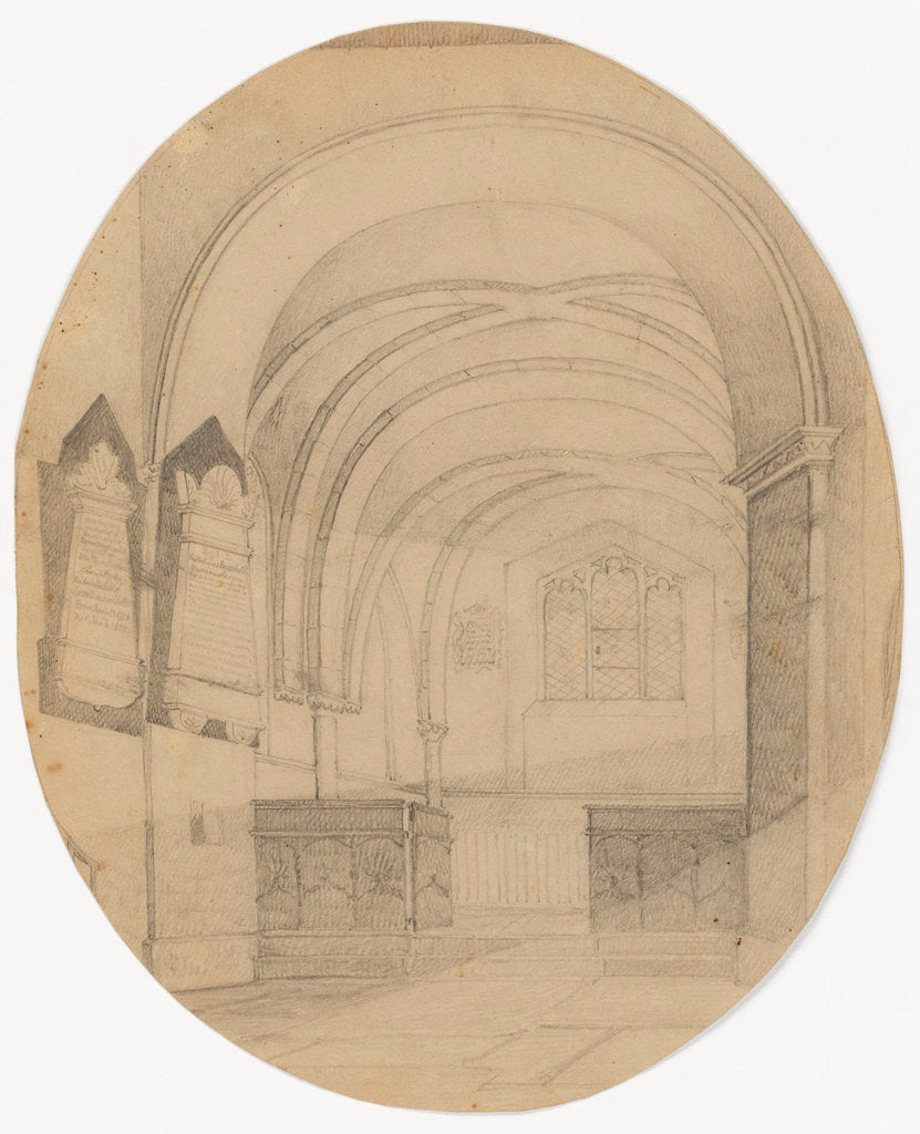 Detail of Interior of Upton Church by Mary Baldwin