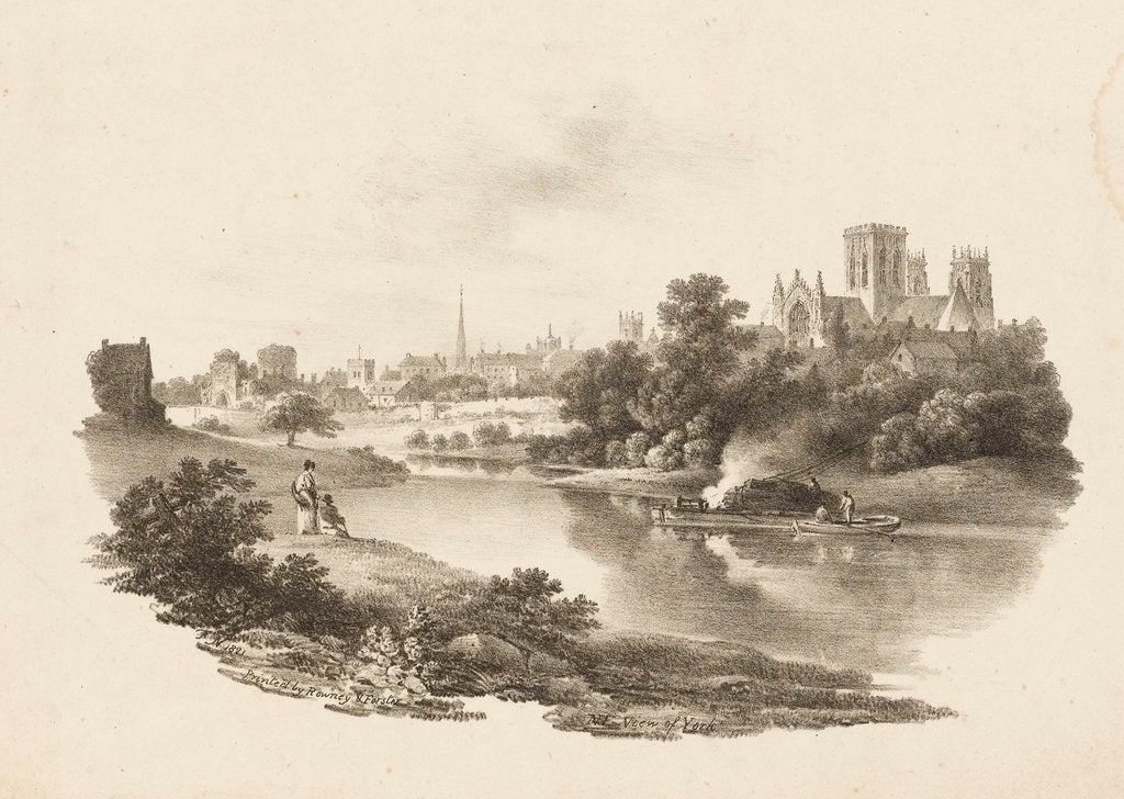 Detail of N E View of York by F. N.