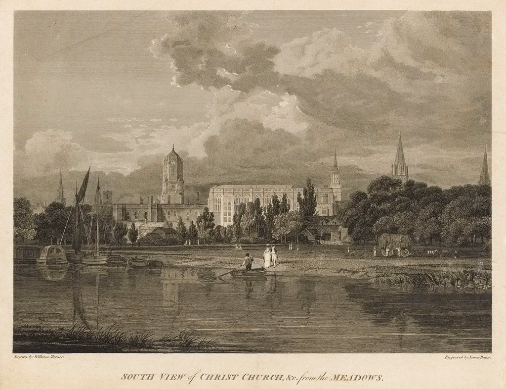 Detail of South view of Christ Church by William Turner