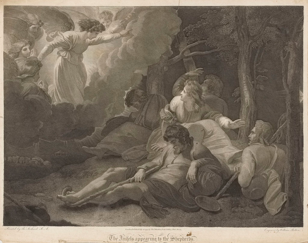 The angels appearing to the shepherds by Thomas Stothard