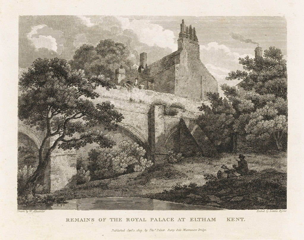 Detail of Remains of the Royal Palace at Eltham Kent by William Alexander