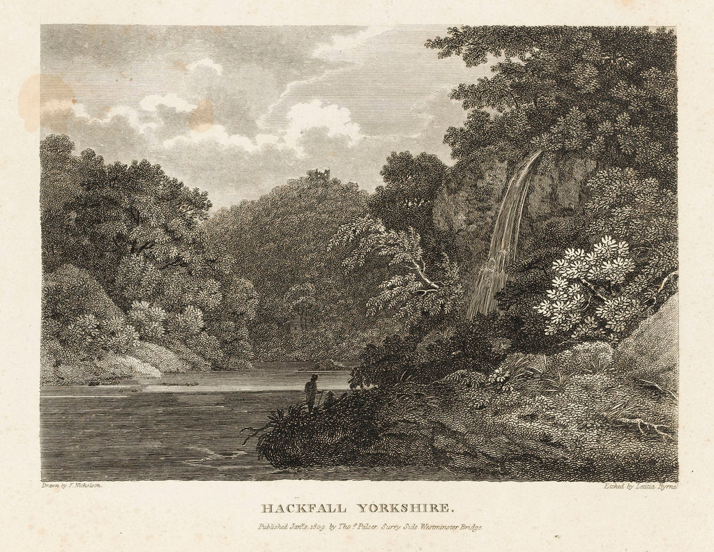 Detail of Hackfall, Yorkshire by Francis Nicholson