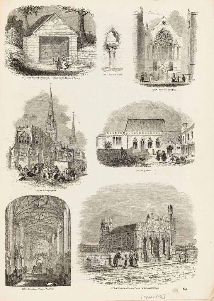 Detail of Page from Charles Knight's 'Old England: A Pictorial Museum' by unknown