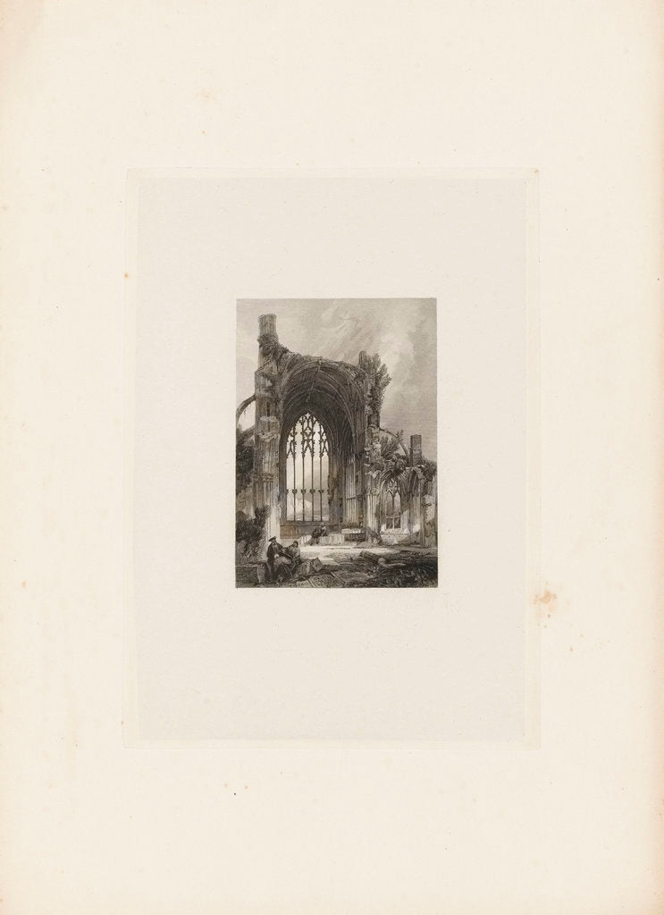 Detail of Ruins of a church by unknown
