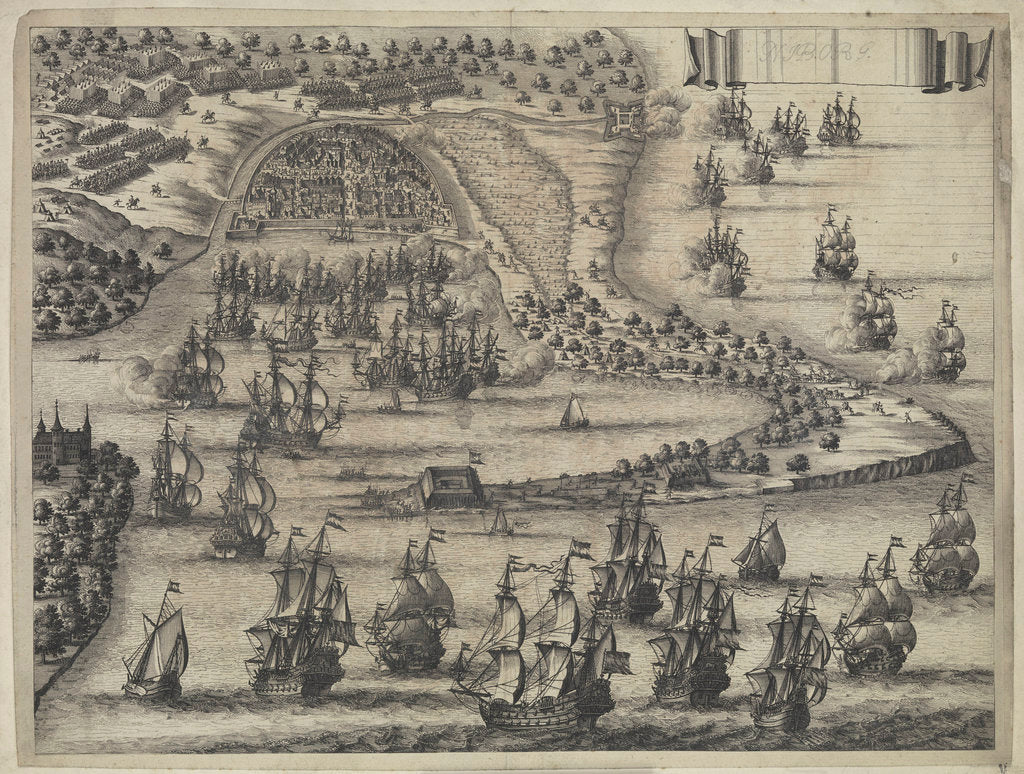 Detail of Nibourg: action between Danes and Swedes, 15 November 1659 by unknown